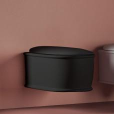 Artceram Atelier Унитаз подвесной, 52х37см, безободковый, с крепежом, цвет: черный матовый