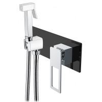 Гигиенический душ Boheme Q 147-BCR со смесителем, черный/хром