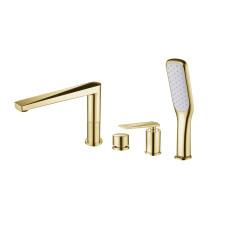 Смеситель на борт ванны Boheme VENTURO 380, золото