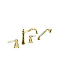 Смеситель на борт ванны Boheme Oro 395, золото