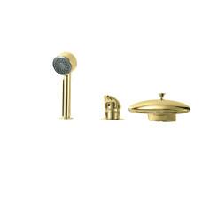 Смеситель на борт ванны Boheme NIAGARA 398, золото