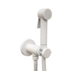 Bossini Paloma Flat Гигиенический душ с прогрессивным смесителем, белый матовый