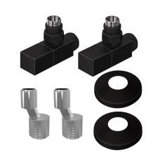 Комплект подключения Lemark LM03412SBL с квадратными вентилями, черный