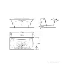 Ванна Roca Akira 170х85 с отверстиями для ручек 2325G000R