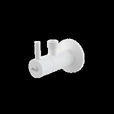 """Угловой вентиль с фильтром 1/2""""×1/2"""", круглый, белый, ARV003B"""