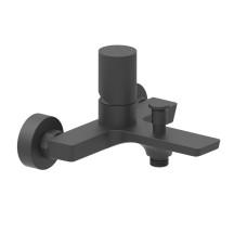 AQG Tube, однорычажный смеситель для ванны без ручного душа, цвет черный матовый