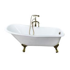 Чугунная ванна Elegansa Schale золотые ножки