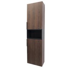 "Comforty. Шкаф-колонна ""Франкфурт-40"" дуб шоколадно-коричневый"