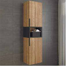 Comforty. Шкаф-колонна Штутгарт-40 дуб тёмно-коричневый