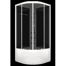 DOMANI-SPA. Душевая кабина Delight 110 high 1000*1000*2180, черная стеклянная задняя панель, тонированное стекло