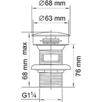 Донный клапан для раковины Wasserkraft A047