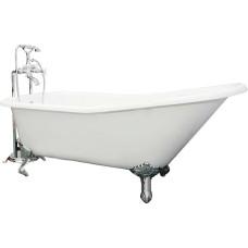 Чугунная ванна Elegansa Schale хромированные ножки