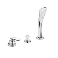 KLUDI BALANCE Однорычажны Смеситель для ванны и душа на 3 отверстия, длина излива 220 мм, 524480575