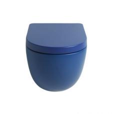Artceram FILE 2.0 Унитаз подвесной безободковый 36х52 см, с креплениями, цвет blu zaffiro