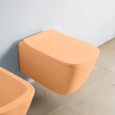 Artceram A16 Унитаз подвесной, 52,5х36см, безободковый, с крепежом, цвет: arancio cammeo