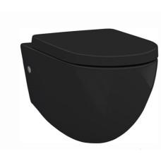 Artceram FILE 2.0 Унитаз подвесной безободковый 36х52 см, с креплениями, цвет черный матовый