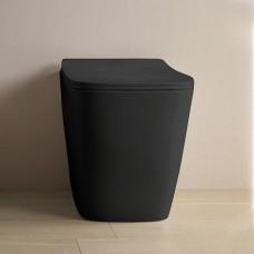 Унитаз приставной ArtCeram A16, цвет черный матовый