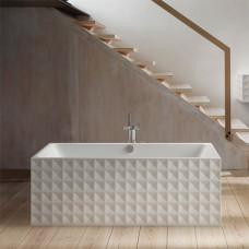 Отдельностоящая ванна из титановой стали BETTE Loft Ornament, 1810х810х420мм, цвет белый