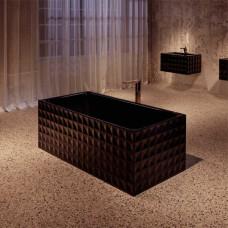 Отдельностоящая ванна из титановой стали BETTE Loft Ornament, 1810х810х420мм, цвет черный гдянец