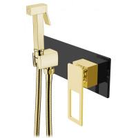 Гигиенический душ Boheme Q 147-BG со смесителем, черный/золото