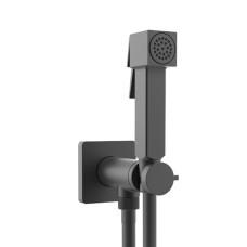 Bossini Cube Brass Гигиенический душ с прогрессивным смесителем, черный матовый