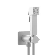 Bossini Cube Brass Гигиенический душ с прогрессивным смесителем, белый матовый
