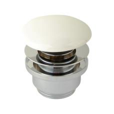 """Донный клапан для раковины clic-clac 1""""1/4 латунь, универсальный, белый 8004CR SBORTIS"""