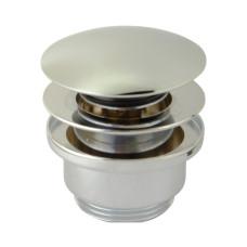 """Донный клапан для раковины clic-clac 1""""1/4 латунь, универсальный, хром 8002CR SBORTIS"""