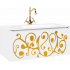 """""""Elegance"""" тумба с умывальником Elegance 1000 подвесная, цвет белый/золото EL0110GL"""