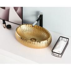 Золотая керамическая раковина Gid 9030g