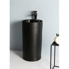Керамическая напольная раковина Gid Nb135bg черный графит