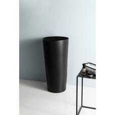 Керамическая напольная раковина Gid Nb130bg черный графит