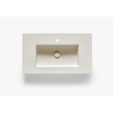 INTEGRA SF SLATE 80 BIANCO раковина-столешница из искусственного мрамора AKRON , цвет белый, 80,3x46,5x1,3