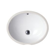 Balaton Раковина овальная врезная на столешницу без отверстия под смеситель цвет белый глянец размер 530 мм 91531001