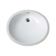 Balaton Раковина овальная врезная на столешницу без отверстия под смеситель цвет белый глянец размер 550 мм 91551001