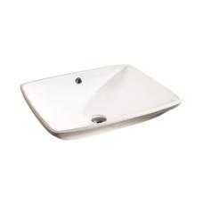 Balaton Раковина врезная на столешницу без отверстия под смеситель цвет белый глянец размер 560 мм 91561001