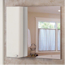 "Comforty. Зеркало-шкаф ""Неаполь-100"" белый глянец"