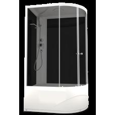 DOMANI-SPA. Душевая кабина Delight 128 L high, высокий поддон, черная стеклянная задняя панель, тонированное стекло, без электрики, 1200*800*2180
