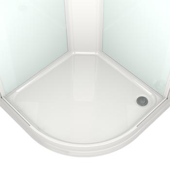 DOMANI-SPA. Душевая кабина Delight 99 низкий поддон, черная стеклянная задняя панель, тонированое стекло, без электрики, 900*900*2180