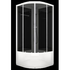 DOMANI-SPA. Душевая кабина Delight 110 high 1000*1000*2180, высокий поддон, черная стеклянная задняя панель, тонированноеное стекло, без электрики