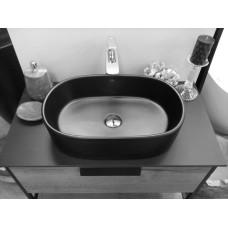 Раковина Nilo Bormio Nilo2123 Mat nero накладная 550*355*145, цвет черный матовый