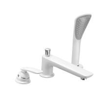 KLUDI BALANCE Однорычажный смеситель для ванны и душа на 3 отверстия, длина излива 220 мм,белый, хром, 524479175