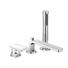 KLUDI E2 Однорычажный смеситель для ванны и душа, на 3 отверстия, длина излива 220 мм, 494470575