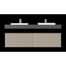 Комплект мебели UNIQUE UNIT 160 БЕЖЕВЫЙ, со столешницей ГРАФИТ, раковина MLN-1422C