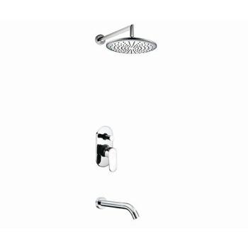 A13030 Встраиваемый комплект для ванны с изливом и верхней душевой насадкой