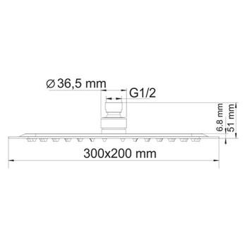 A171519 Thermo Встраиваемый комплект для ванны с верхней душевой насадкой, лейкой и изливом