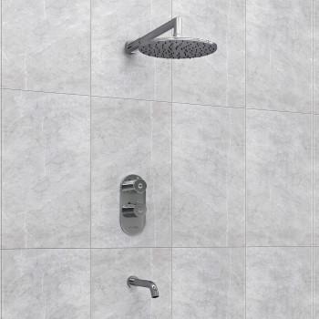 A15030 Thermo Встраиваемый комплект для ванны с изливом и верхней душевой насадкой